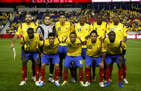 The Men's futbol team for Colombia!! They have been doing such an amazing job competing for the World Cup this year!