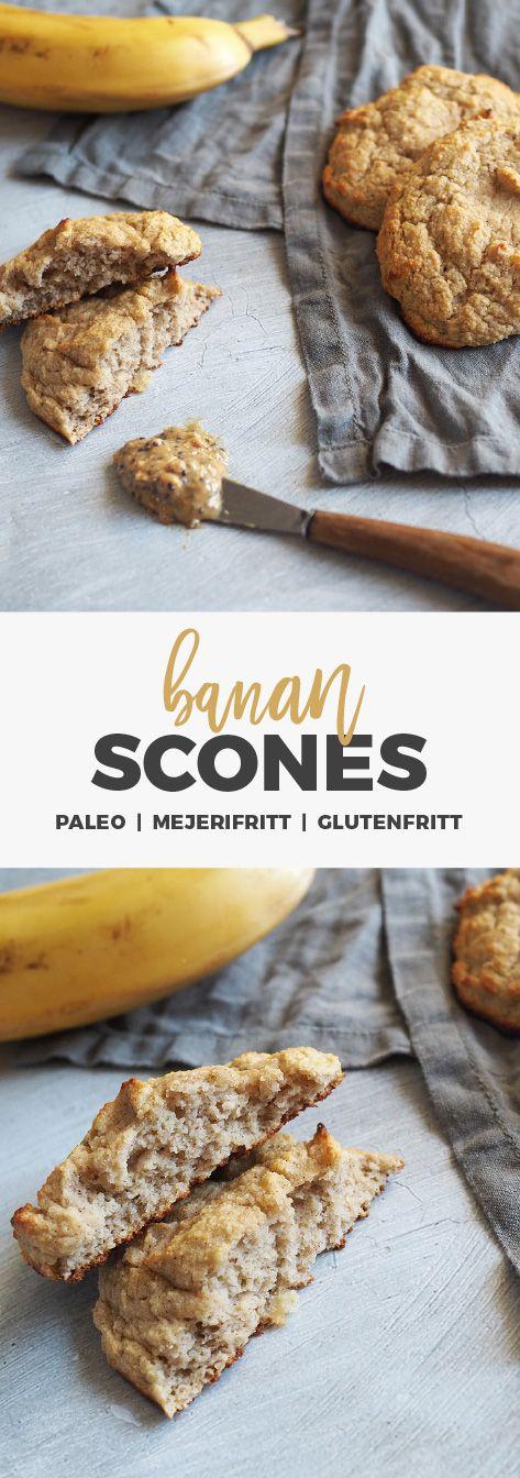 Bananscones – paleo / glutenfritt / mjölkfritt