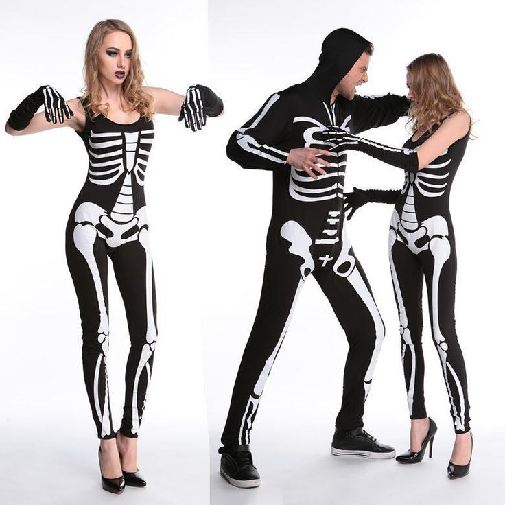 halloween costumes fo couples carnival skeletons