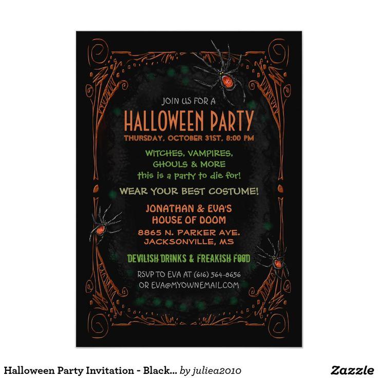 124 best Halloween Invitations images on Pinterest | Halloween ...