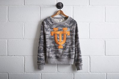 Tailgate Women's Tennessee Camo Sweatshirt by  American Eagle Outfitters | Better come prepared to Neyland Stadium. The Volunteers have an all-time winning record of 447 games, the most home wins in college football history.Better come prepared to Neyland Stadium. The Volunteers have an all-time winning record of 447 games, the most home wins in college football history. Shop the Tailgate Women's Tennessee Camo Sweatshirt and check out more at AE.com.