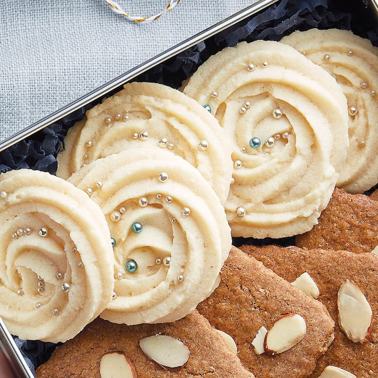Whipped Shortbread Cookies A light, buttery cookie that melts in your mouth!