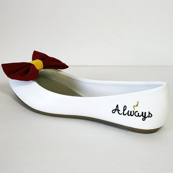 Harry Potter flats with bow ties by ElectriqueSole on Etsy, $40.00