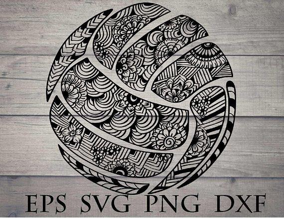 Pin By Nadia Wydmanska On Tatuaz In 2020 Zentangle Volleyball Drawing Svg