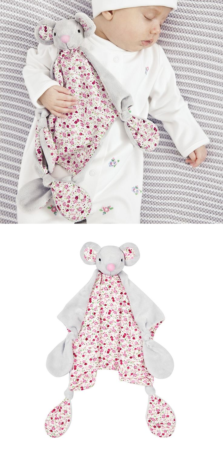 Pretty Floral Mouse Comforter JoJo Maman Bebe - Baby Gift Ideas