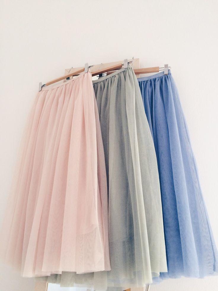Una falda de tul en un color bonito | Image of TULLE SKIRT {VARIOS COLORES}
