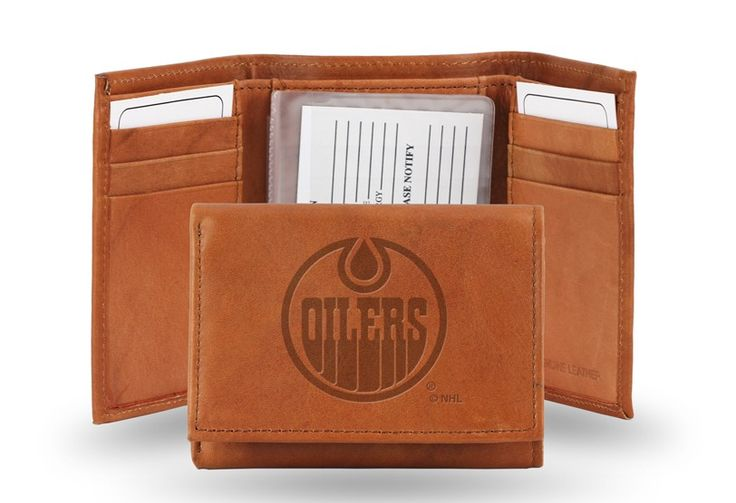 Edmonton Oilers Embossed Leather Trifold/Wallet