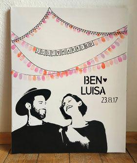 Persönliches, originelles, besonderes, kreatives und personalisiertes Hochzeits…