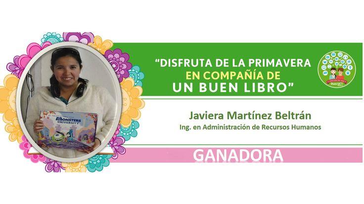 """GANADORA EXPO LIBROS """"DISFRUTA DE LA PRIMAVERA EN COMPAÑÍA DE UN BUEN LIBRO"""""""
