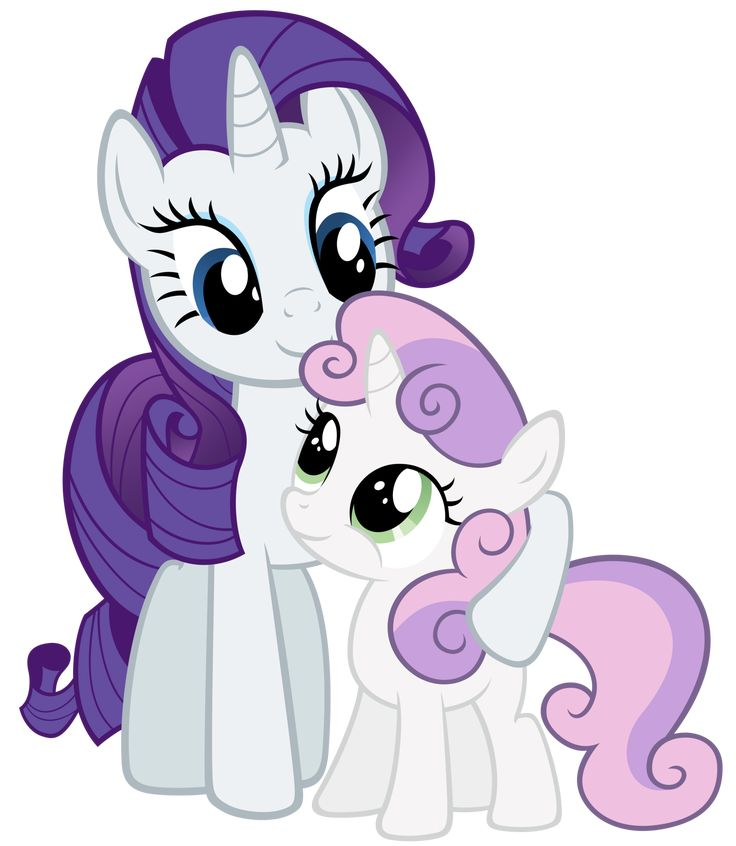 Rarity and Sweetie Belle being cute.