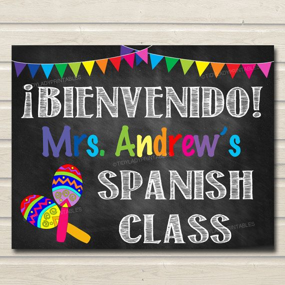 Printable Custom Teacher Door Sign for Spanish Classroom Decor! A cute way to add personality and bright, fun personalized decor to your Spanish classroom! An awesome way to welcome students to the new school year!  Note: THIS IS A DIGITAL PRODUCT. NO PHYSICAL ITEM WILL BE SENT TO YOU. • Watermark will not appear on your files  File Format: 300 dpi .JPEG image. You choose the size at checkout!  NOTE: this listing does not include any changes to the designs, colors, or fonts. You will…