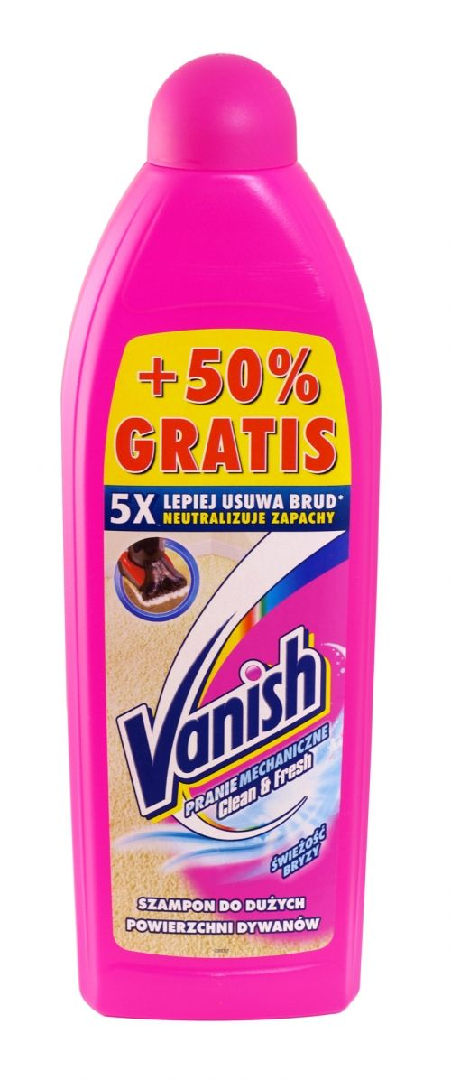 Vanish clean & fresh machine carpet shampoo 750ml