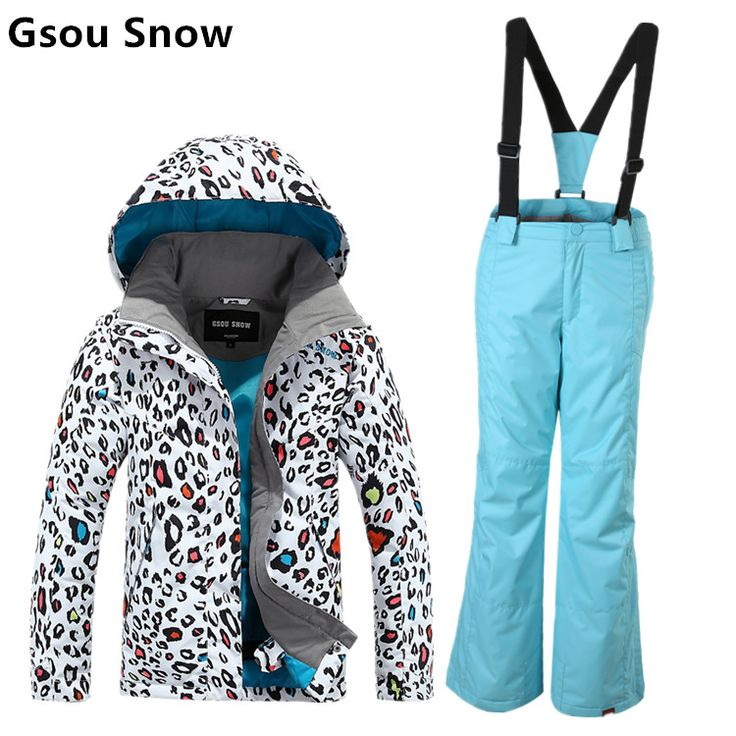 Counter genuine gsou snow children Ski Suit Girls ski suit parent-child ski suit Leopard