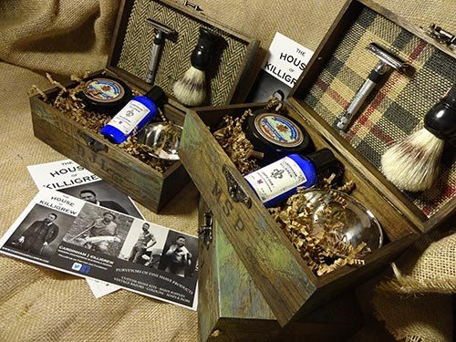 Handmade unique groomsmen gifts - cool groomsmen shave kits. custom made shave kits made in the USA.