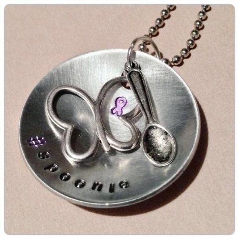 SPOONIE pendants awareness jewelry for by MetalMamaDesigns on Etsy, $14.50
