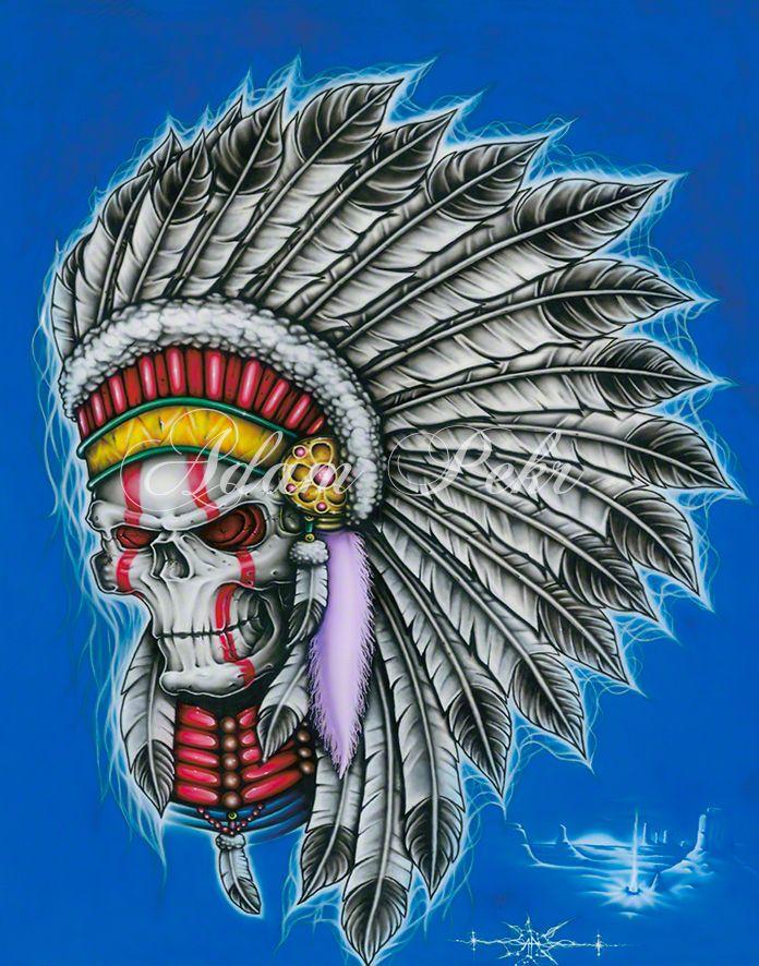 Native American Colour Airbrush Artwork
