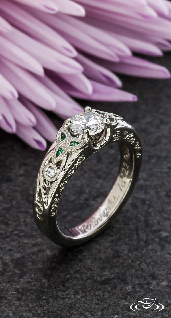Wow Solitaire Engagement Rings Really Are Eye Catching Image 8652142500 Solitaireengagem Celtic Engagement Rings Celtic Wedding Rings Unique Engagement Rings