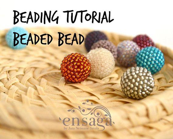 Beaded Bead Tutorial Beaded Bead Pattern DIY earrings PDF