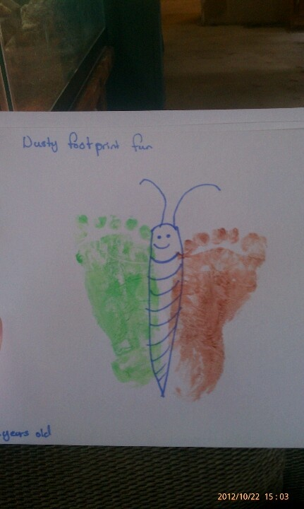 feet butterfly from my 2 year old