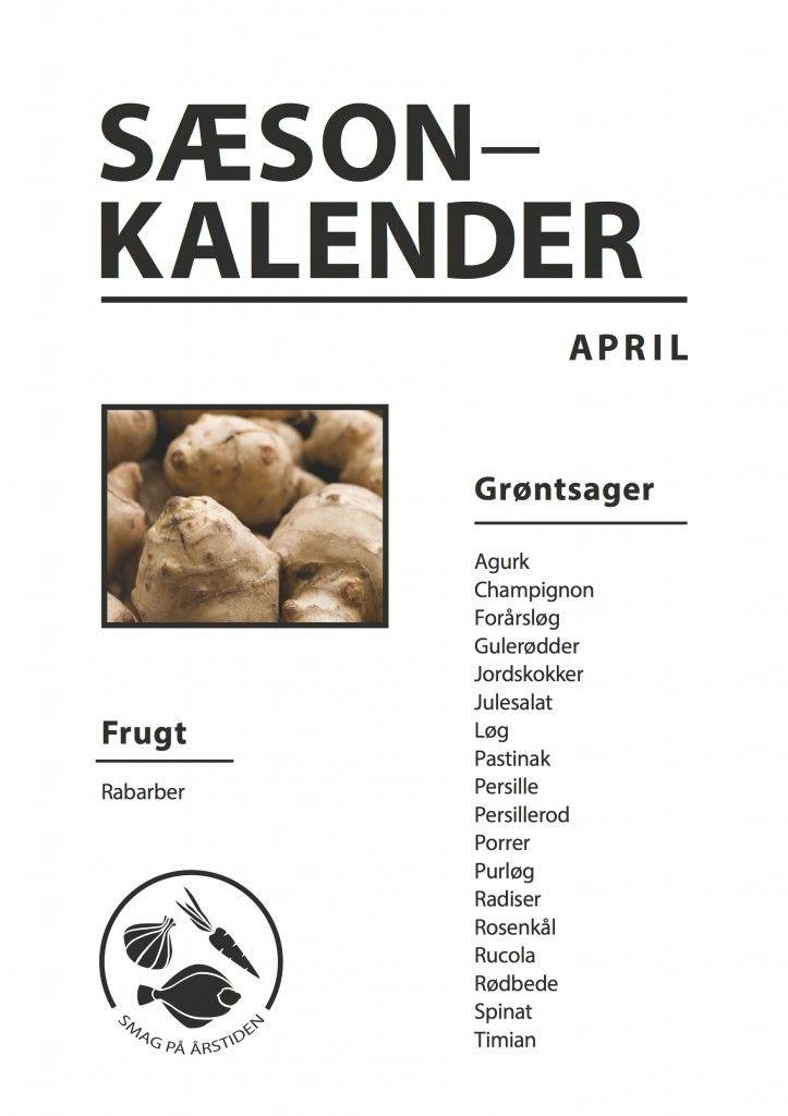 sæsonkalender April | Smag På Årstiden