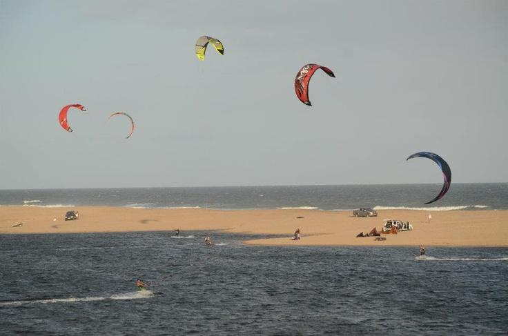 Uruguay - Kitesurfing in Laguna Garzon -