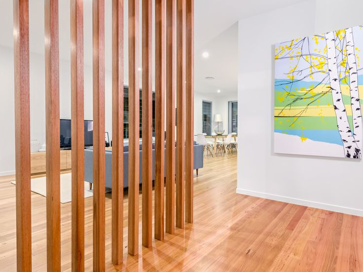 Feature Timber Screen To Entrance Of Kalka Display Home Camphill Kalka Homes Pinterest