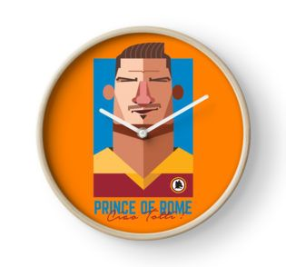 Clock • Also buy this artwork on apparel, stickers, phone cases, and more. Francesco Totti #tottiday #redbubble #tshirt #ASRoma #Italy #SerieA #Football #legend #allstar #masterpiece #player #francescototti
