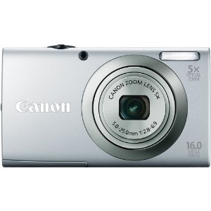 Canon PowerShot A2300 IS 16.0 MP Digital Camera with 5x Optizal Image Stabilized Zoom 28mm Wide-Angle Lens with 720p HD Video Recording (Silver)   #CanonPowerShot16.0MPDigitalCamera