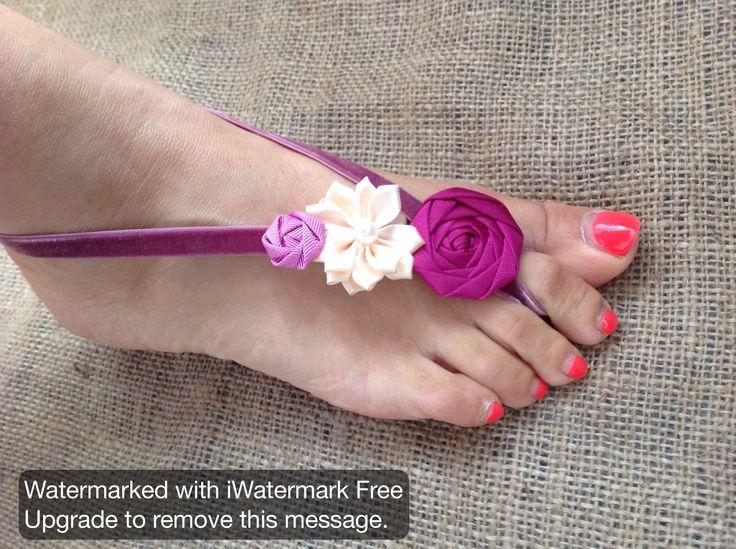 Lilly Dilly's bespoke handcrafted barefoot sandals #wedding #barefootsandals #boho #festival #flower #ivory #vintage #foot #feet #bride #bridesmaids #flowergirls #overseas #destinationwedding