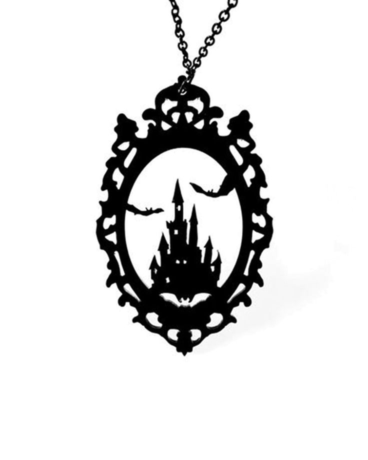 Curiology | Dracula's Castle Cameo Necklace  - Tragic Beautiful buy online from Australia