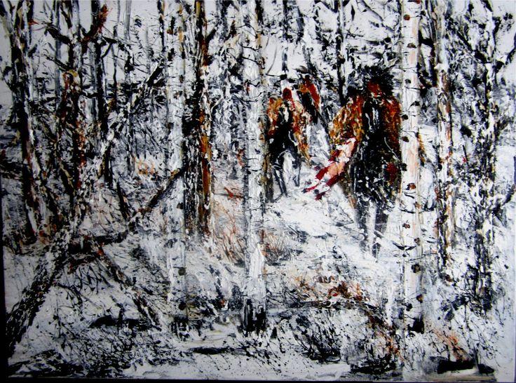 Joanne Bird, Sisseton-Dakota Sioux Artist - Acrylic on Canvas  www.spiritsinthewindgallery.com