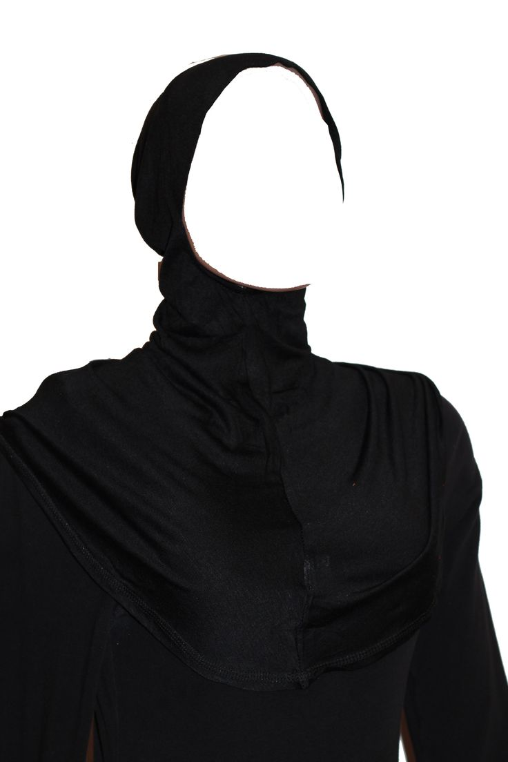 The extra large Ninja underscarf is made of soft cotton blend with stretch for comfort. It covers the entire head and neck front and back & the chest... it can easily be tucked under your top and provides more coverage than the regular ninja under scarf; it is meant to be worn underneath a scarf, shawl or veil. Great worn underneath see-through items too. The Ninja hijab underscarf is a perfect complement for shawls or scarves which are worn to be more ornamental not as a full
