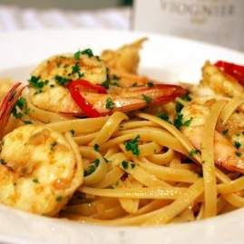 Recipe Garlic Prawn Linguine by Thermicook - Recipe of category Pasta & rice dishes