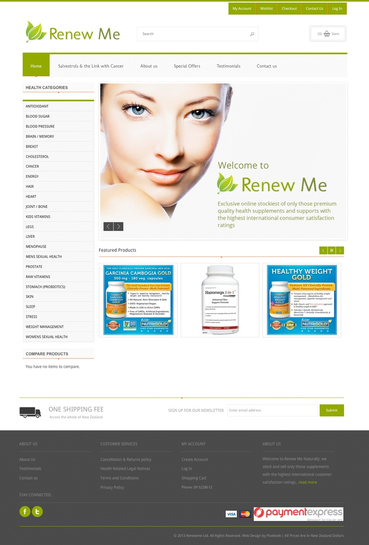 Responsive Magento Website for Renewme