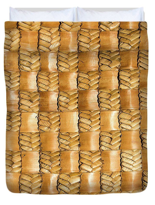 Flax Duvet Cover featuring the photograph Weaving Flax - Gold by Wairua o te Moana