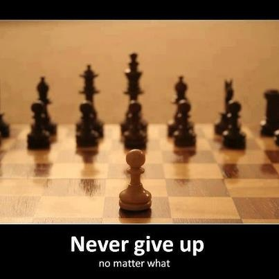 """Never give up!!!!!! "" never have never will I will fight for what I want and believe in until my last breath"