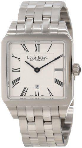 Louis Erard Women's 20701AA01.BMA18 Emotion Square Automatic Silver Dial Steel Watch Louis Erard. $1095.88
