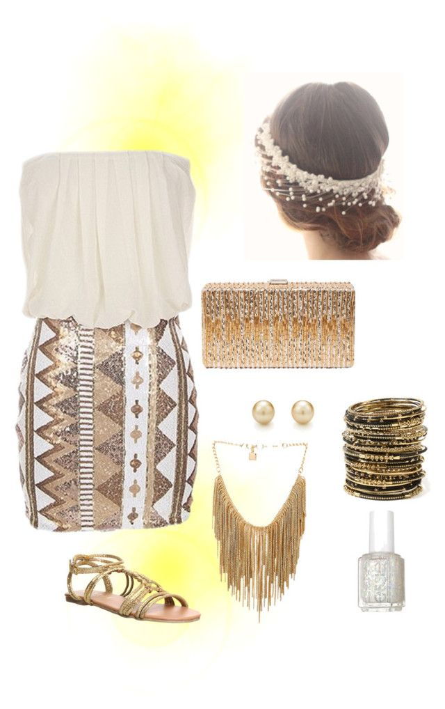 """""""You're worth more than gold!"""" by abadabadue ❤ liked on Polyvore featuring Office, Dsquared2, Amrita Singh, Tiffany & Co., BCBGMAXAZRIA and Essie"""