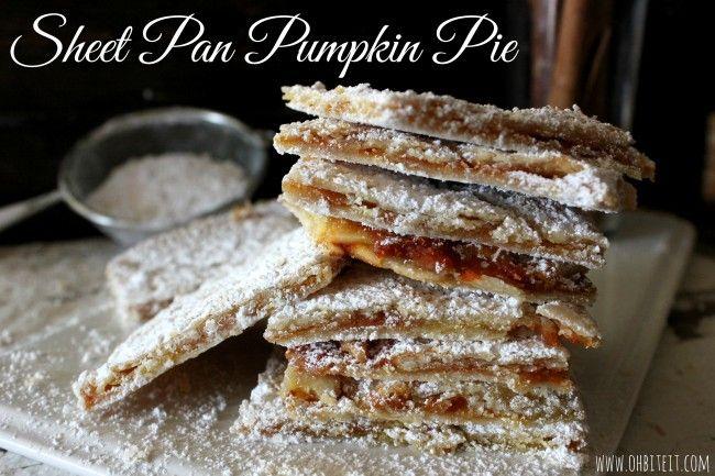 Sheet Pan Pumpkin Pie | Recipes | Pinterest