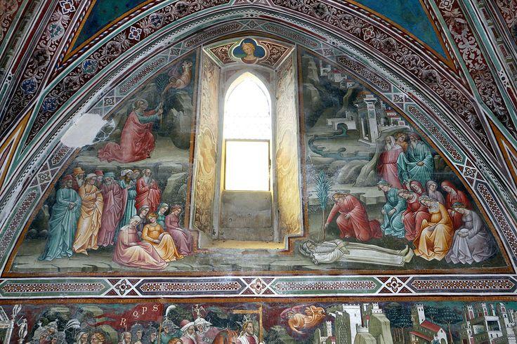 Cenni di francesco, cappella della croce di giorno, 1410, seth riceve l'albero del peccato e lo pianta sulla tomba di adamo 01.JPG