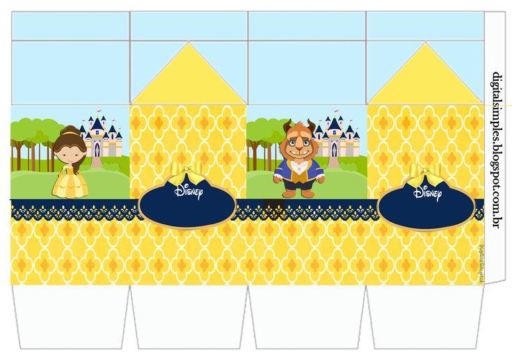 """Kit de Personalizados Tema """"A Bela e a Fera"""" para Imprimir ..."""