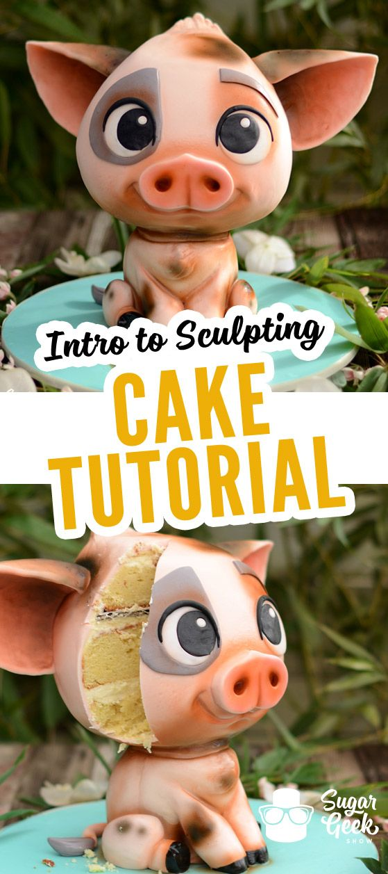 Learn how to sculpt cake! Everything you need to know to get started sculpting a multitude of cakes! In depth instructions on how to sculpt Pua the Pig from Moana that can translate to your future projects! Visit the following link to watch the promo video on our site: https://sugargeekshow.com/course-preview/introduction-cake-sculpting-preview/
