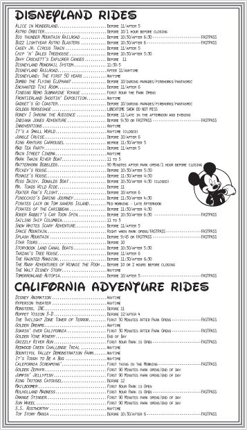 So after lamenting that the Disneyland books didn't have the handy guides that… – Mackenzie Turrill