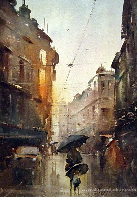 Rain Washed Street: Dusan Djukaric