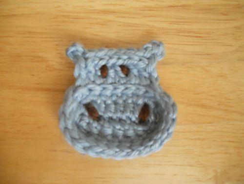 Ravelry: Hippo Applique pattern by Carolina Guzman
