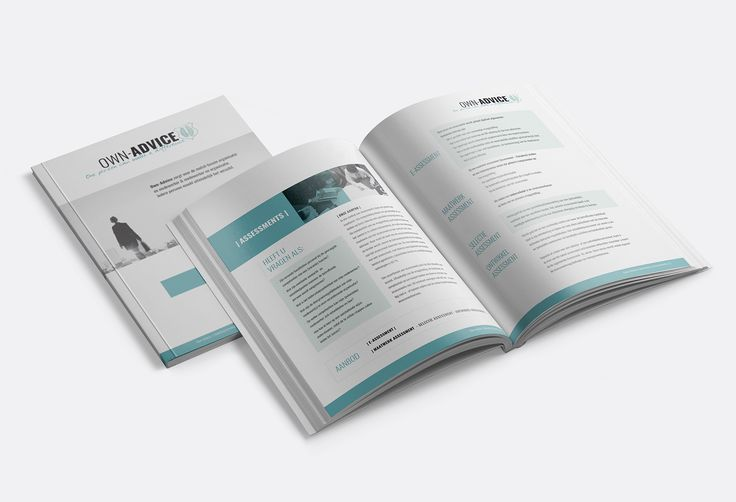 Brochure ontwerp voor Own-Advice door Studio Zeis  #branding #brochure #graphicdesign