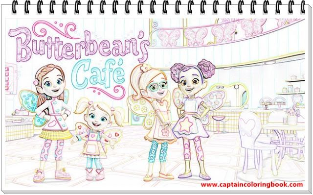 Butterbean Cafe Coloring Page Coloring Page Kids Coloring Books Coloring Pages Coloring Books