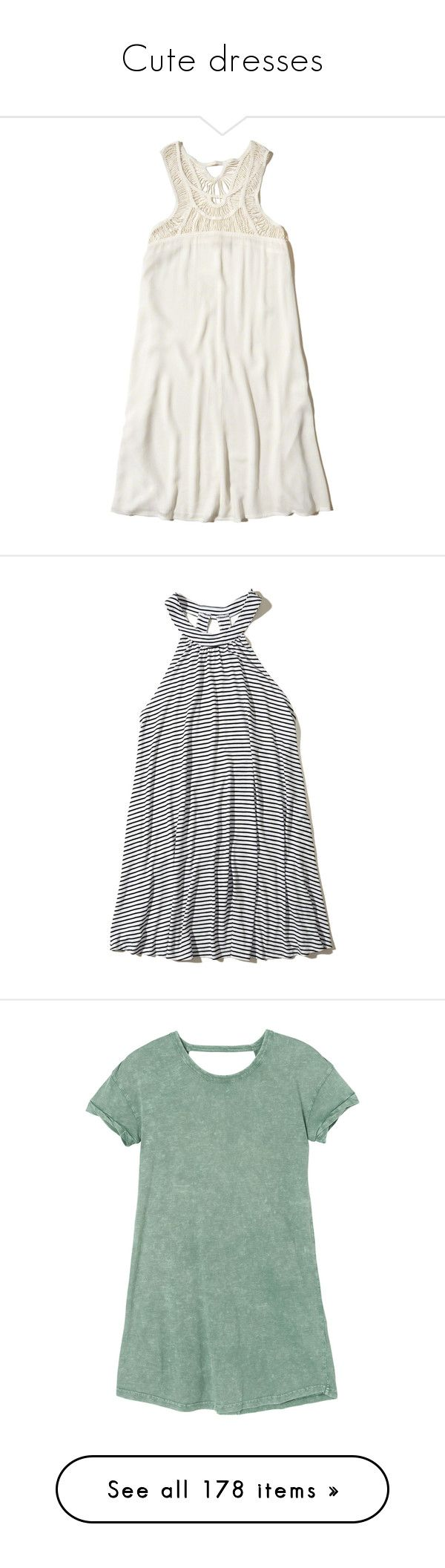 """""""Cute dresses"""" by zoejm ❤ liked on Polyvore featuring swimwear, cover-ups, white, beach cover up, beach swimwear, white beach wear, beach wear, white cover up swimwear, dresses and black stripe"""