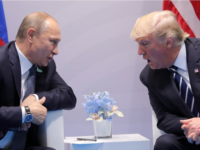 "US Secretary of State Rex Tillerson said Friday that President Donald Trump ""pressed"" Russian President Vladimir Putin on findings that Russia interfered in the 2016 presidential election during what Tillerson described as a ""very robust and   lengthy exchange on the subject."" Tillerson said Russian meddling was discussed right at the onset of thepair's firstbilateral meeting at the G-20 summit in Hamburg Germany.  Russia's account of the discussions on the topic was quite different…"
