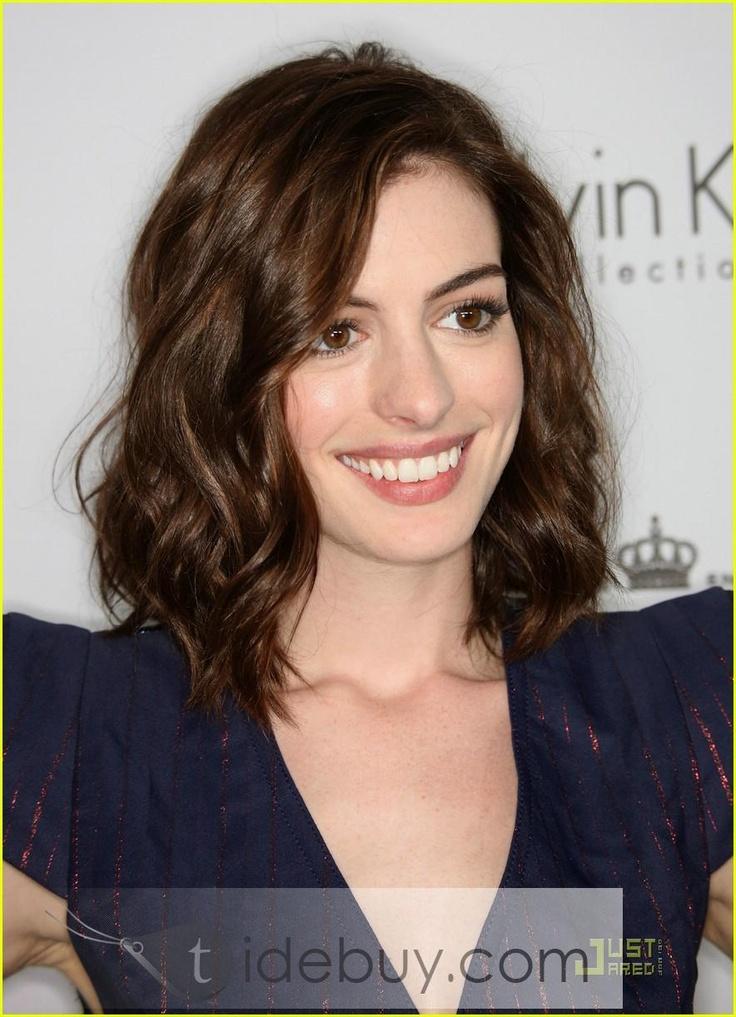 Medium Hair, Anne Hathaway Hair, Shoulder Length Hair ... Anne Hathaway Brown